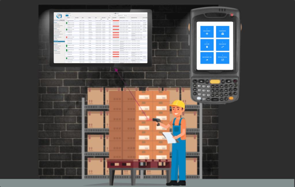 Modeliser emplacement entrepot avec un ERP industrie